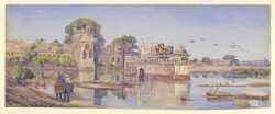 'Water Palace - Chitore.  India.  Decr. 1878'